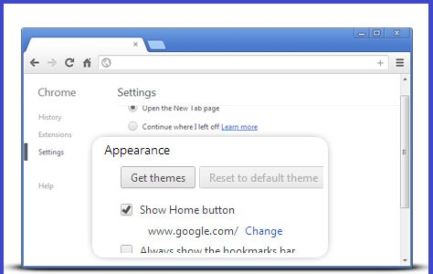 how to make something a homepage on chrome