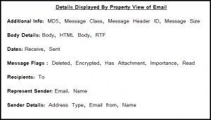 Details Displayed by Property View