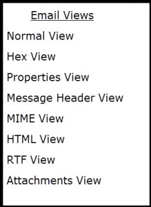 Diffferent Modes of EMail Views