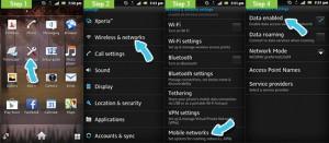 Включить сеть передачи данных Android