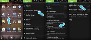 Включить Android USB-модем