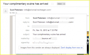 General View of Email