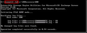 Integrity Check of LOG files