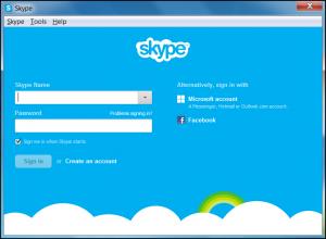 Войти в Skype