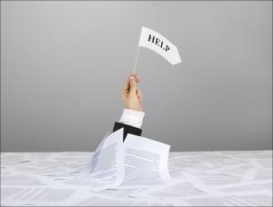 помощь-тонущий в бумаге