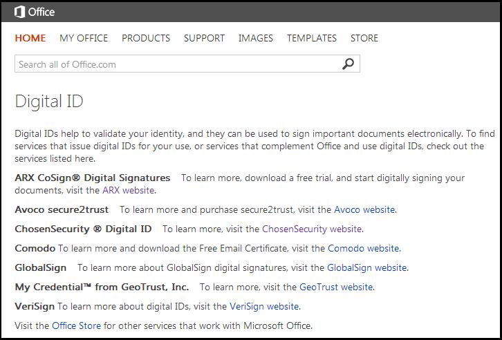 Companies providing digital signature certificates   download table.