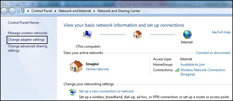 how to change internet connection on ps3