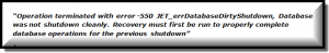 error 550