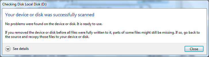 how to repair hard drive windows 7
