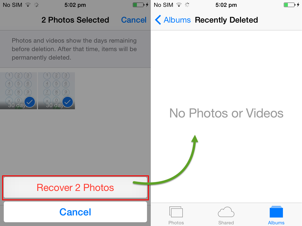how to clear recently deleted on iphone 6