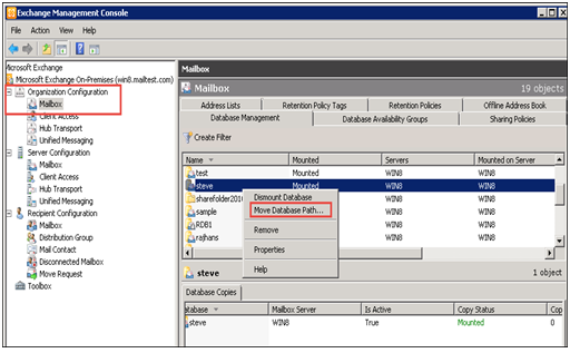 Open the Exchange Management Console