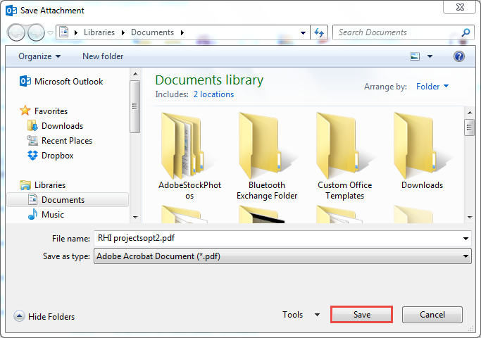 Extract PDF Files from Multiple Outlook Emails in One Click