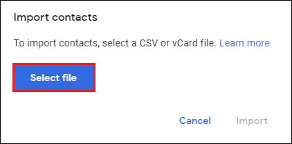 Import Phone Numbers from Excel to Gmail