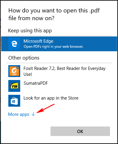 Microsoft edge discover why pdf file not opening in edge for Choosing new windows