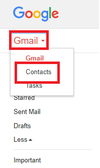 Is there an address book in gmail