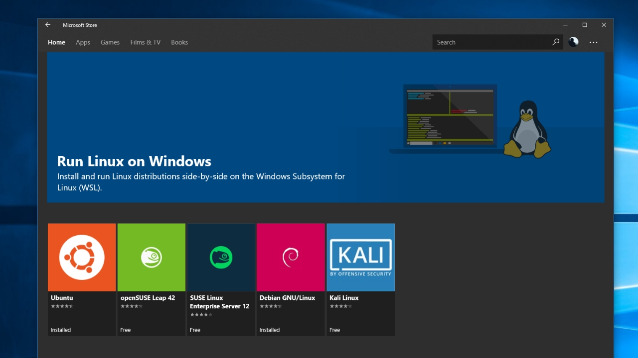 Microsoft Offers Windows Subsystem for Linux (WSL) for Windows 10