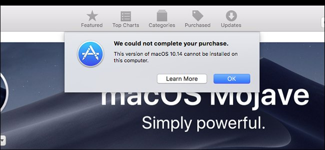 macOS 10.14 cannot be installed