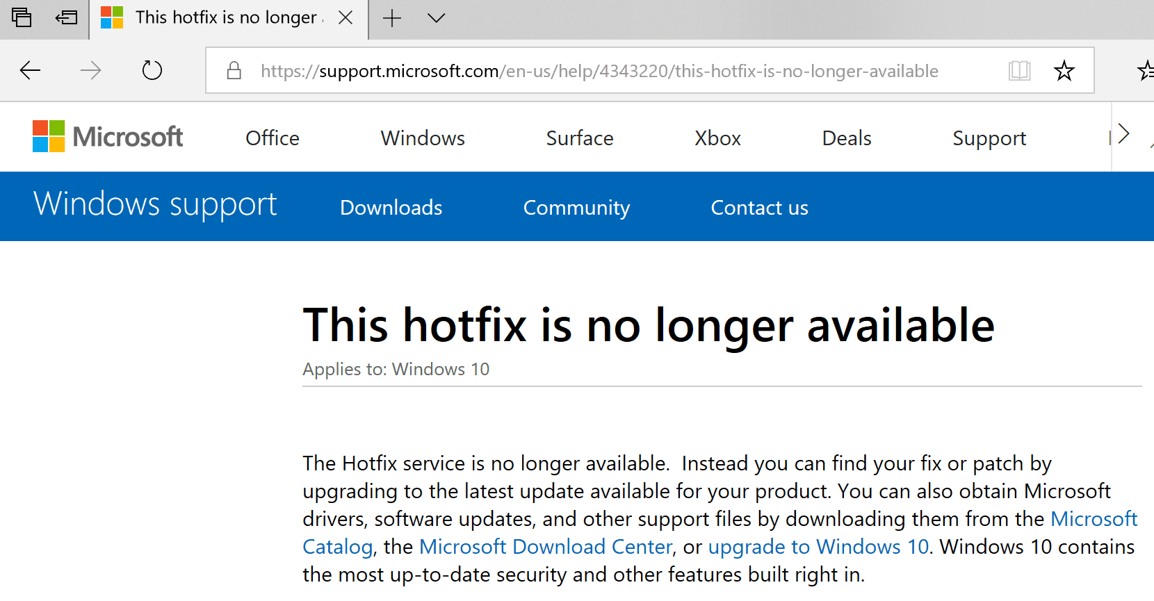 Hotfix is not available