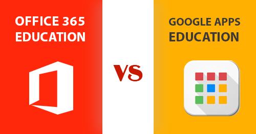 Office 365 education vs Google Apps Education