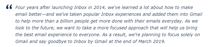 Google Inbox Replacement – Inbox Users Pushed to Gmail Due