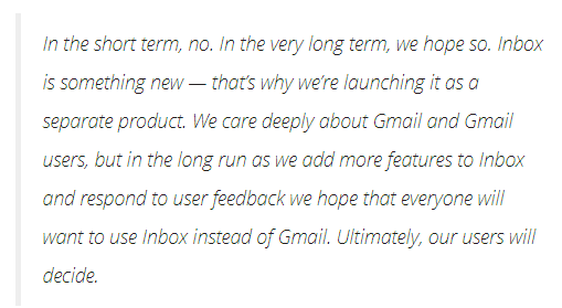 google inbox shutting down