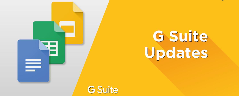 G suite updates