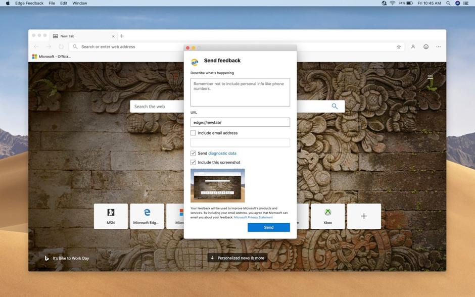 can you download Microsoft edge on mac