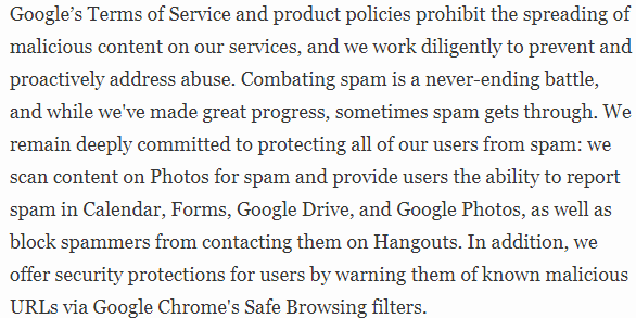 Google Security alert response