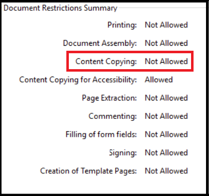 pdf copying restrictions