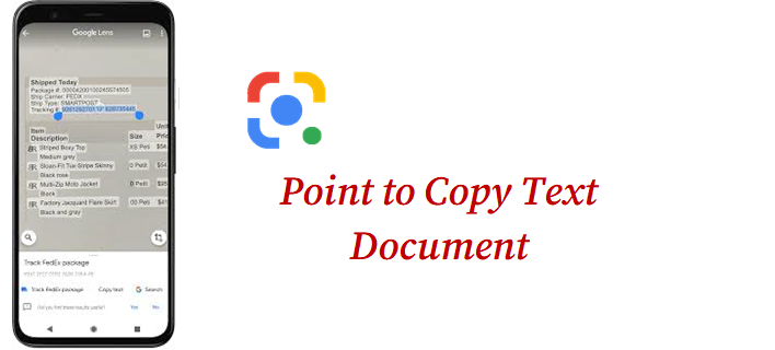 copy text from Image document